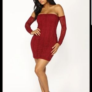 New! Fashion Nova Lena Lace Strapless Dress